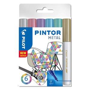 Fiberpennset Pilot Pintor (Metal Mix) - Fine