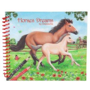 Fickmålarbok - Horses Dreams