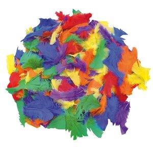 Fjädrar 100 g blandade färger