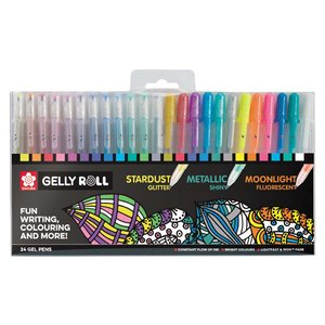 Gelly Roll - 24 pennor