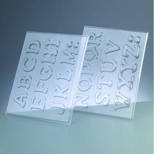 Gjutform - bokstäverna A-Z 4 cm