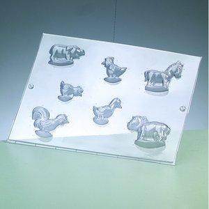 Gjutform - djur på gården 3-5 cm