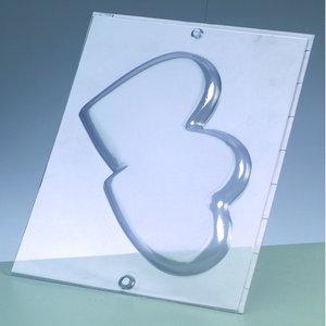Gjutform - dubbelhjärta 15 cm