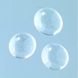 Glasklimpar 11 - 13 mm - kristallklarta 1.000 g ~ 450 st.