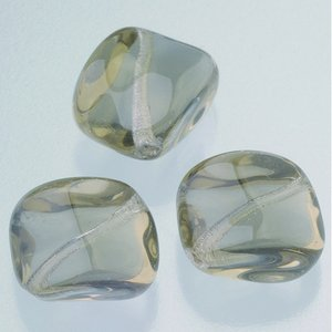 Glaspärlor 16 x 16 mm - grå 5 st. nr 3