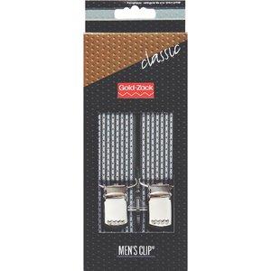 Hängslen Classic 125cm 30mm mörkgrå ränder