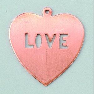 Hängsmycke 36 x 39 mm - hjärta (love)
