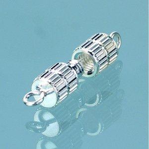 Halsbandslås 10 mm - försilvrad 50 st. cylinder