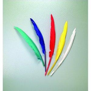 Indianfjädrar 20 - 30 cm - flera färger blandade 10-pack