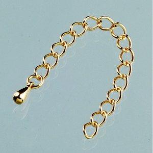 Justerbart armband l 6 cm - guldpläterade 2 st