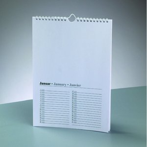 Kalender för teckning A4 - vit