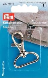 Karbinhake 25/40 mm mm silverfärg