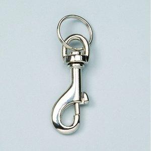 Karbinhake 65 mm - förnicklad 2 st. med nyckelring