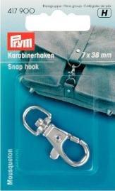 Karbinhake 7/38 mm silverfärg