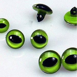 Kattögon - grön 4 st