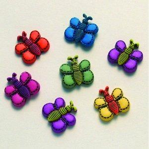 Knapp - färger 7 st. Fjärilsdrömmar