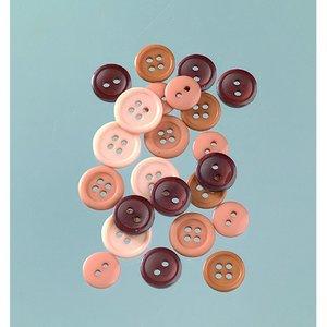 Knappar 10 - 15 mm - beige / brun 40 g naturlig