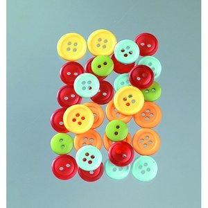 Knappar 10 - 15 mm - flera färger lätt 40 g citrus