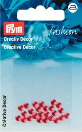 Kreativ Dekor rund påstrykes 4mm röd 28 st