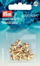 Kreativ Dekor stjärnor påstrykes 10mm guldfärg 18 st