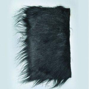Långt hår plysch 20 x 35 cm - svart