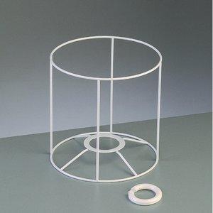 Lampstomme ram 15 cm / ø 15 cm - vit rund