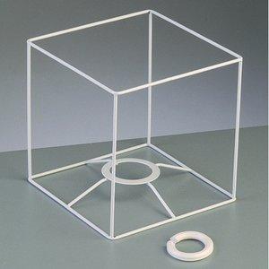 Lampstomme ram 15 cm / 15x15 cm - vit kvadrat