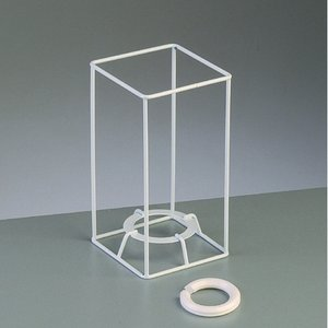 Lampstomme ram 15 cm / 8x8 cm - vit kvadrat