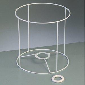 Lampstomme ram 20 cm / ø 20 cm - vit rund