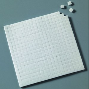 Limkudde 5 x 5 x 3 mm / 10 x 14 cm - vit 560 st. dubbelsidig