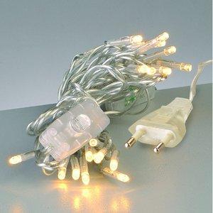 Ljusslinga LED + knapp linjär 220 V - transparent 20 lampor transp.