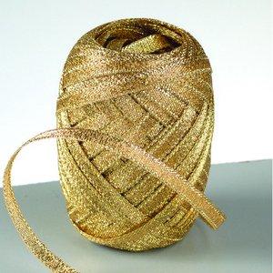 Lurex rosettband 5 mm - 25-pack - guld 10 m nystan