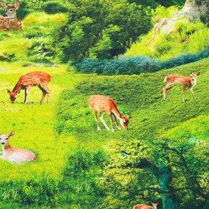 Mönstrad Trikå 150 cm - Bambi