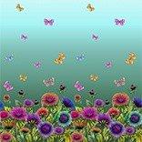 Mönstrad Trikå 150 cm - Fjärilar Blå