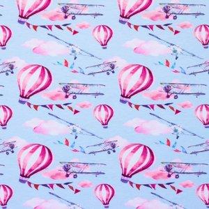 Mönstrad Trikå 150 cm - Flygande ballong