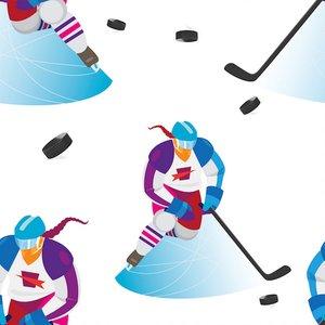 Mönstrad Trikå 150 cm - Hockeytjej