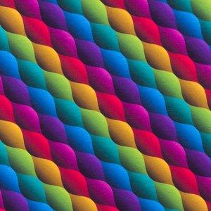 Mönstrad Trikå 150 cm - Mixade Färger Våg