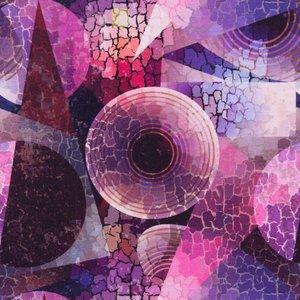 Mönstrad Trikå 150 cm - Mosaik Geometri Rosa