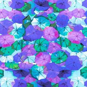 Mönstrad Trikå 150 cm - Paraply Lila