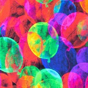 Mönstrad Trikå 150 cm - Vattenfärger Ballong