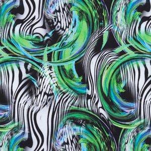 Mönstrad Trikå 150 cm - Zebra Bubbla Grön