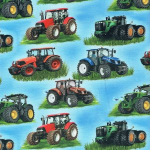 Mönstrad Trikå 160 cm - Flerfärgade Traktorer