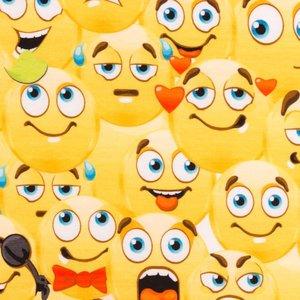 Mönstrad Trikå 160 cm - Marvellous Edition Emoji