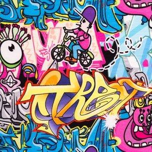 Mönstrad Trikå 160 cm - Marvellous Edition Graffiti