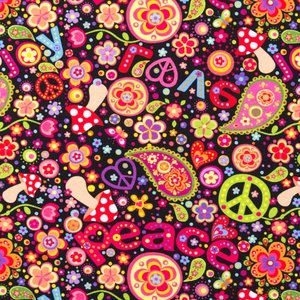 Mönstrad Trikå 160 cm - Marvellous Edition Hippie