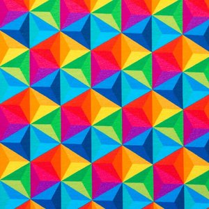 Mönstrad Trikå 160 cm - Trianglar Multi