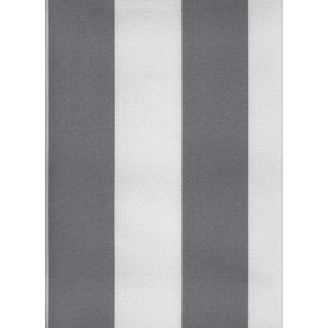 Markisväv - Blockrandig grå/vit - 1 metersbit