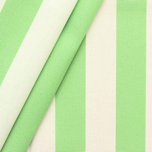 """Markisväv och dekortyg Toldo """"Ränder"""" - Pistachio grön-Vit - 160 cm"""