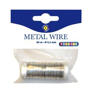 Metalltråd 80 m - Guld och Silver
