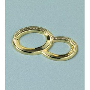 Miniatyr 25 mm - guld 5 st. Dubbelring